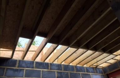 New extension roof work in progress