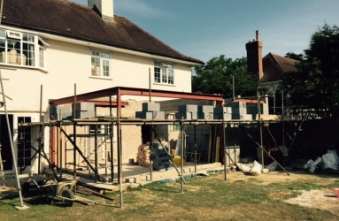 Steels and beams outside view